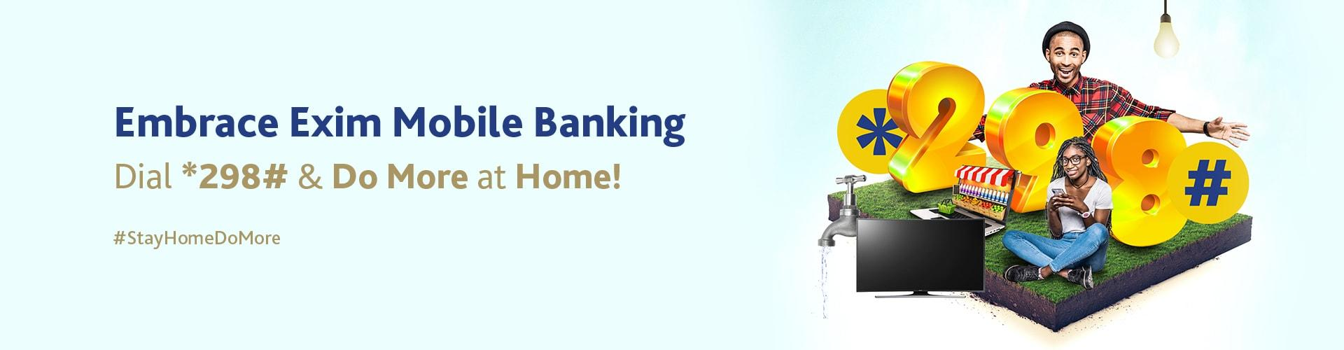 Exim USSD Banking - *298#